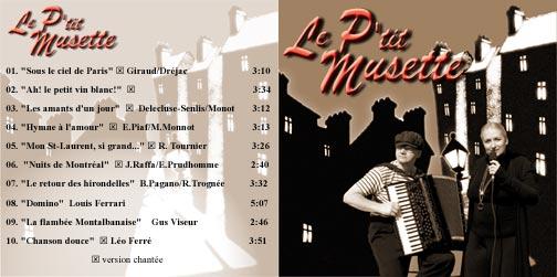 Pochette du CD le p'tit musette