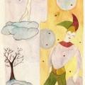 """""""Sur un nuage"""" Aquarelle de Hélène Cardinal"""