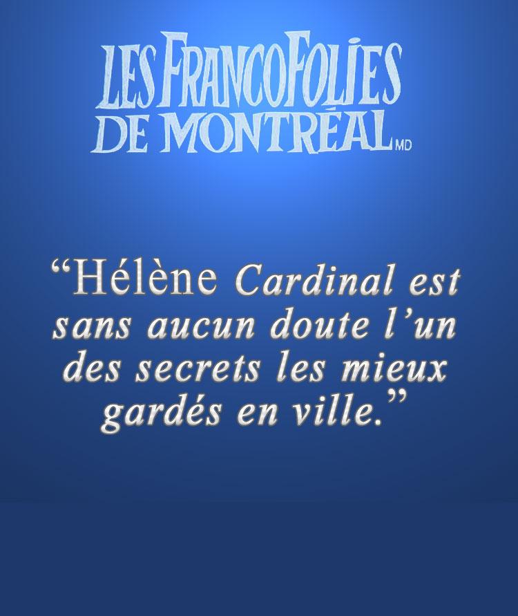 Hélène Cardinal aux Francofolies